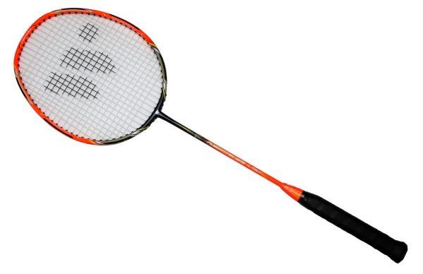 Ракетка бадминтонная WISH FUSIONTEC 973 оранжево / черная