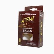 М'ячики для настільного тенісу Atemi 1* 6 шт білі 40+